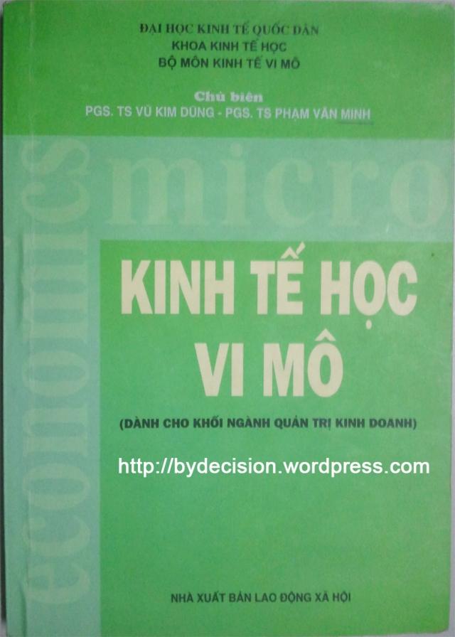 Giáo trình kinh tế học vi mô - thầy Minh béo