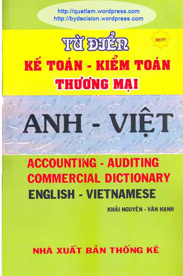 Tu dien ke toan - kiem toan - Thuong mai